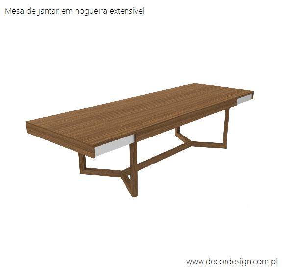Mesa de Jantar Nogueira