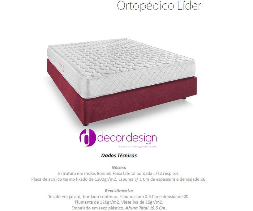 Colchão Ortopédico Líder