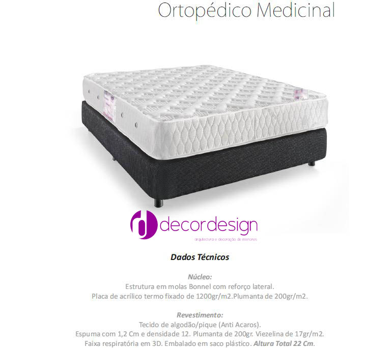 Colchão Ortopédico Medicinal